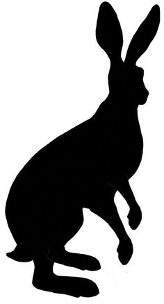 Lavinia Stamps - Animals and Insects - Standing Hare ( Rabbit Silhouette, Animal Silhouette, Silhouette Vector, Hare Illustration, Graphic Illustration, Animal Stencil, Stencil Printing, Raven Art, Lavinia Stamps