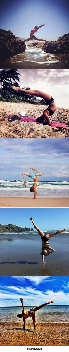 All of these gorgeous yoga photos make us want to go to the beach ASAP.