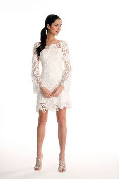 Beautiful wedding dress for the non-traditional bride.