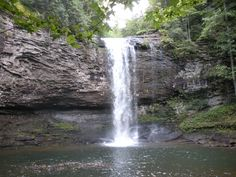 Cloud Canyon Park: Distance from ATL: 2 hours  This large state park has a rugged landscape, a couple waterfalls and an impressive canyon. For longer hikes, the 4.8-mile West Rim Loop is impressive, but if you're in it for waterfalls, theres a nice 2-mile trail that will do quite nicely. There, youll find two waterfalls, with water cascading over rough sandstone and shale. Word to the wise: stop by after a heavy rain and the falls will be even more breathtaking.