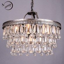 Foyer Pendant Crystal Chandelier Lighting Dining Room E14 Led Kitchen Fixture Retro Rust Iron Hanging Lamp Led Chandelier Lustre Ceiling Lights & Fans
