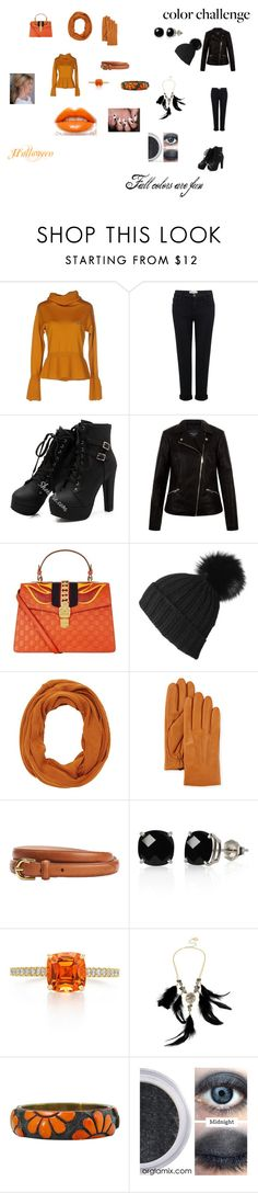 """""""Orange is the new Black"""" by shriquinn on Polyvore featuring Vivienne Westwood Red Label, Current/Elliott, New Look, Gucci, Black, Charlotte Russe, UGG, Belk & Co., Betsey Johnson and orangeandblack"""