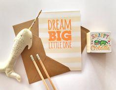 Dream Big - Yellow - By Snappy Crocodile