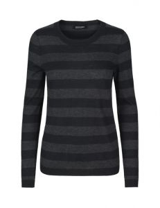 Stribet cashmere bluse - Perfectly Simple - 1199