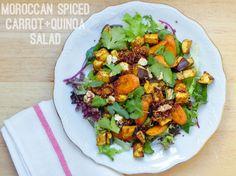 roasted carrot and eggplant quinoa salad