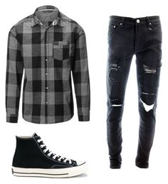 """""""Outfit for Guy #1"""" by snowbellawinter1st ❤ liked on Polyvore featuring Converse, men's fashion and menswear"""