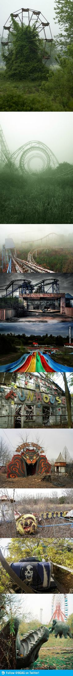 creepy abandoned amusement parks....