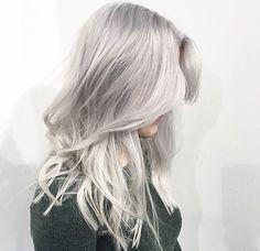 Silver blonde hair color by Marije @ Salon B, Almere