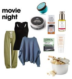 """Contest: movie night (spa, by the way)"" by dtlpinn on Polyvore featuring Puma, Skin, L'Oréal Paris, Kiehl's, Dr.Hauschka, OPI and Moroccanoil"