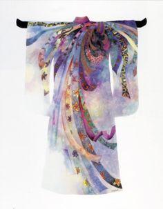 Kimono ... Beautiful design!!! NOSHI pattern.