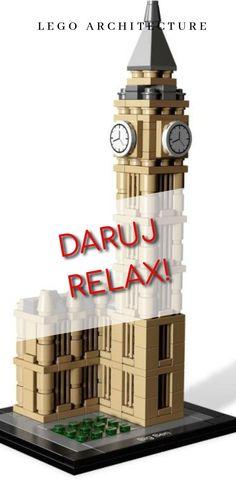 Darujte relax - darujte najkrajšie stavby sveta - darujte predplatné do Lego požičovne. Lego Architecture, Big Ben, New York City, Relax, Building, New York, Buildings, Nyc, Construction