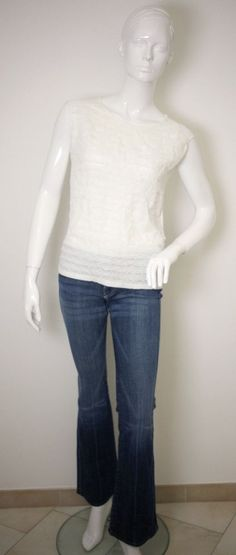 "7 FOR ALL MANKIND LADIES JEANS W26""-REISS LADIES WHITE TOP LACE FRONT-UK 8-CHIC #7ForAllMankind #Bootcut"