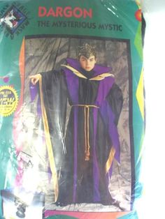 New Dragon Mysterious Mystic Wizard Halloween Costume Sz 12 - 14 Ages 6 -10 #CompleteCostume