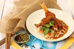 Traditional Spiced Lamb Shanks. Emirati inspired slow cooked lamb shank in a fusion of local spices.