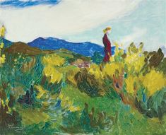 #JÁNOS_THORMA   *   Girl on a hillside.