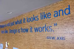 Acrylic lettering to communicate messaging within the open office space
