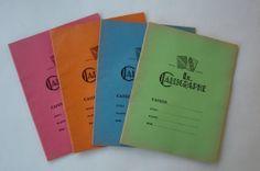 Les cahiers Vintage Français scolaire, Note 4 livres, Cahiers, cahiers, carré papier pour ordinateur portable