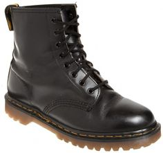 77c2a8c1dcecd Classic black boots by Dr Martens with iconic yellow stitching