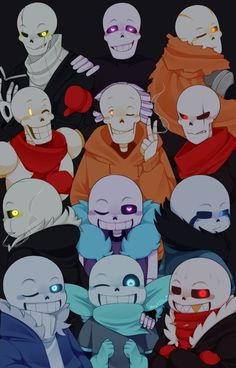 So my friend today asked me who my favorite Sans AU was......but there are to many to choose from, like all of THESE ones.