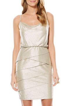 Laundry by Shelli Segal Metallic Blouson Dress available at #Nordstrom