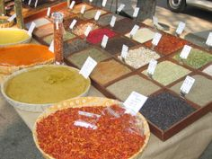 Spices galore at the French Farmers Market in Arles, France