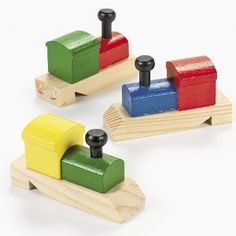 Amazon.com: Wooden Painted Train-Shaped Whistles (1 dz): Toys & Games