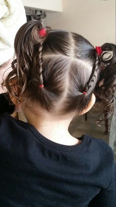 Little Girl Hairstyles Toddler Hair Dos, Easy Toddler Hairstyles, Easy Little Girl Hairstyles, Kids Curly Hairstyles, Girls Short Haircuts, Baby Girl Hairstyles, Pretty Hairstyles, Braided Hairstyles, Female Hairstyles