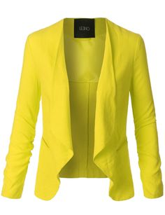 LE3NO Womens Draped Front Ruched Sleeve Linen Blazer Jacket