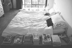 Holy shit with as many books as I have piled on my nightstand and next to my bed this is a great idea.
