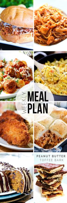 "STRESS FREE Weekly Meal Plan Sunday 19 so you always know ""What's For Dinner?"" before ever being asked. Top recipes from favorite bloggers who have done all your time consuming meal planning for you!"