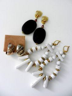MIX earrings 1970 Italian vintage earrings  di VintageItalianJewel, $30.00