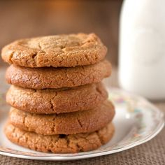 These healthy peanut butter cookies are soft, chewy, and packed with peanut butter flavor