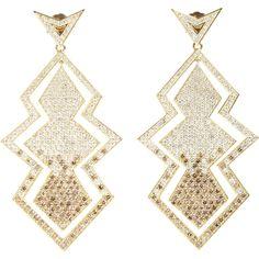 Deborah Pagani - White & Cognac Diamond Joan Earrings...wowza