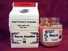 Spicy rich scent of cinnamon sticks. Colors may vary. You can purchase this candle in three forms. Wax Tarts Small Jar Candle Medium Jar Candle Wax tarts are sold in packs of four. Use 1 or 2 for hours of lovely aroma in a wax tart burner. First time using a wax tart/tart burner? You can find our burners here . Simply choose one or two tarts of your choice (feel free to mix scents and experiment). Place the tarts in the top burn bowl then take a tealight (we recommend using unscented) and pl... Jar Candle, Candle Wax, Soy Candles, Wax Burner, Wax Tarts, Cinnamon Sticks, Experiment, Tea Lights