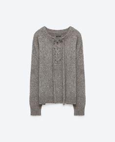 Image 8 of SWEATER WITH FRONT TIE from Zara