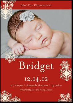christmas card announcement