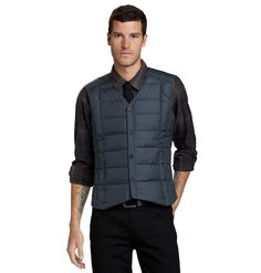 BYOB Men's Down Vest, lightweight, water-repellent 800-Fill Down Insulation with recycled polyester shell.