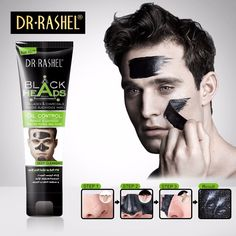 DRRASHEL Bamboo Charcoal Blackhead Removedor Peel off Mask Men Black Mask Face Acne Treatment Oil-control Moisturizing DR-006