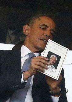 President Obama reads program at memorial for Nelson Mandela | Reuters.com