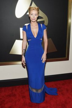 Best and Worst Dressed at the 2015 Grammy Awards | Worst: Iggy Azalea in Custom Giorgio Armani