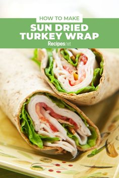 10 mins. · Serves 6 · Refreshing and filling with a medley of colors! This Sun Dried Turkey Wrap recipe is great for brunch or lunch. #Recipes #Food #Crave #Tasty #Yummy #Delicious #FoodTrip #FoodLover #Recipes.net #foodporn #Cook #Cooking #Foodie #foodblog #homemade #wraprecipes #lunchideas #brunch Weight Watchers Desserts, Healthy Toddler Meals, Easy Healthy Recipes, Lunch Recipes, Dinner Recipes, Easy Family Meals, Easy Meals, Family Recipes, Turkey Wrap Recipes