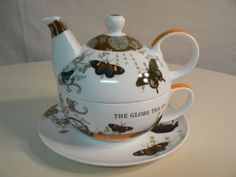 PPD-Tea-for-One-TEA-GARDEN-with-Decorative-Hat-Box-Matching-Design-BONE-CHINA