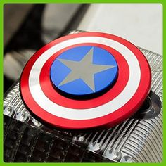 The Anti-Anxiety 360 Spinner Fidget Toy Shield Helps Focusing Premium Quality EDC for Kids & Adults Stress Reducer Relieves ADHD Anxiety Captain America