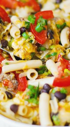 Mexican Pasta Bake with Black Beans and Sausage