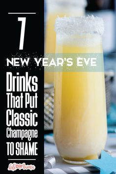 Whether you're hitting a friend's NYE party, heading downtown for a local celebration, or staying in your pj's as you watch the ball drop in Times Square from your living room, a new drink has got to be what you toast the new year with! I've got 7 delicious drinks worth checking out that are anything but your typical champagne concoction.