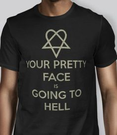 Your Pretty Face is Going to Hell T-Shirt S 2XL size heartagram him ville valo $14.99