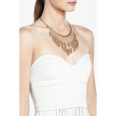 BCBG metal fringe necklace
