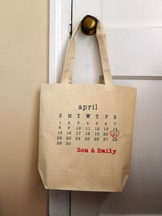 save the date bag
