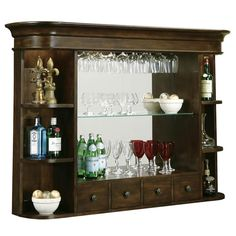 An old dresser mirror. Why didn't I think of this and keep my moms bedroom set! We are building a bar in the basement.
