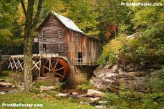 Glade Creek Grist Mill poster #poster, #printmeposter, #mousepad, #tshirt